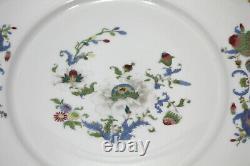 (10) A Raynaud Ceralene Limoges Vieux Chine White, 6 Dinner & 4 Salad Plate Set