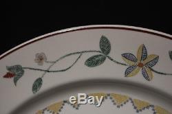 11pc Set Vintage Villeroy & Boch AMERICAN SAMPLER 10.5 Dinner Plates Luxembourg