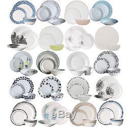 12 24 Piece Dinner Set Dining Crockery Tableware Service Round Plates Bowls Mugs
