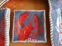 12 Piece Lobster Set Dinner, Salad Plates, Bowls + Bonus Tommy Bahama Melamine