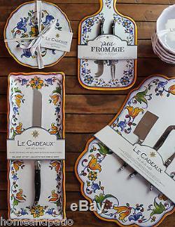 12PC Capri Top Quality Outdoor Patio Melamine Dinnerware Set for Four Le Cadeaux