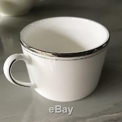 14 Piece Kate Spade Lenox Platinum China set dinner plates coffee cups