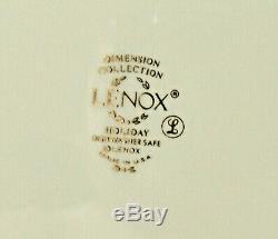 15pc Lenox HOLIDAY Christmas China Set Creamer Sugar 5 Dinner Plates 2 Platters+