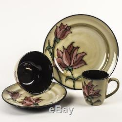 16 Piece Dining Set Country Floral Dinner Plates Bowl Mugs Porcelain Women Gift
