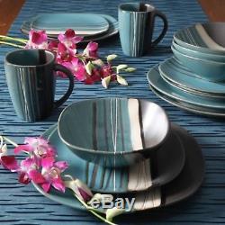 16 Piece Dinnerware Set Dinner Home Kitchen Stoneware Plates Serving Dishes Kit