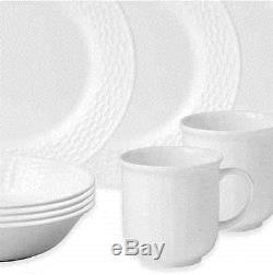 16 Piece Dinnerware Set Dinner Round Plates Bowls Dishes Mugs Home Kitchen