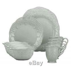 16 Piece Dinnerware Set Dinner Round Plates Mugs Dishes Bowls Home Kitchen