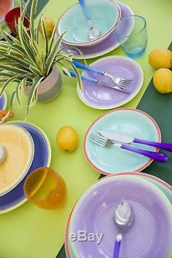 18-Piece Multicolored Dinner Set Dinnerware Crockery Dining Plates Service for 6