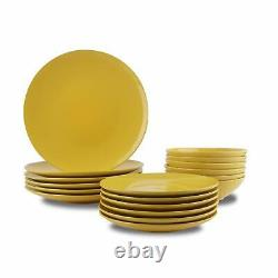 18 Piece Stoneware Dinner Set Crockery Plate Bowl Tableware Dining Service for 6