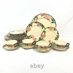 20 Pc Set Franciscan Desert Rose USA Dinnerware Dinner Salad Plate Cup Saucer