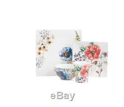 222 FIFTH 32PC CORALINE DINNEWARE SET Mugs Bowls Dinner Salad Plates MSRP $370