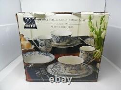 222 Fifth ADELAIDE-BLUE & WHITE 20 piece set