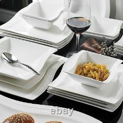 26pc Complete Dinner Set Ceramic Plates Cups Saucers Kitchen Dinning Service Set