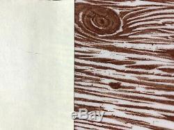4 Martha Stewart FAUX BOIS Burleigh 10 Dinner Plates Wood EXCELLENT! (set #2)