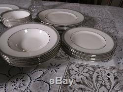 40 piecesVintage Royal Doulton Part Dinner SetRAVENSWOOD Plates+Bowls, etc