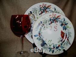 40pc Lenox Winter Greetings 10 x4Place Settings Dinner Salad Plates Cups Saucers