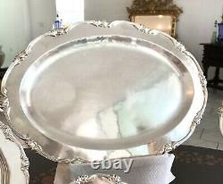 43 Pcs Sterling Silver Dinner Set For 12 By Camusso Plates, Trays, Pitcher, Bowl