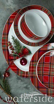 45 Pieces Crockery Dinner Plates Bowls Mugs Dinnerware Tableware Dinning Set Red