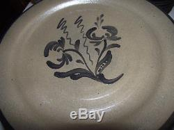 48pc 8ppl Dinner & Salad Plate SOUP &Fruit BOWL SET ROWE POTTERY 1990 Salt Glaze