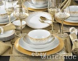 50pc Christmas Dinner Set Plates Bowl Platter Table Runner Placemat Napkin Rings