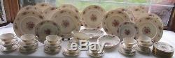 53 Pcs Lenox USA Lenox Rose Pat J-300 Dinner Set Exc Plates Bowls Gravy C&s