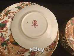 60 Piece Set Service For 12 Royal Crown Derby Olde Avesbury Dinner Salad Plate