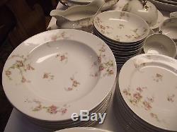 93pc 12 Dinner SET 4 PLATE 2 Bowl ROSES SET LIMOGES REDON Hodges VTG SERVICE For