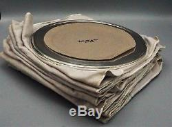 A FULL SET OF 12 LARGE ANTIQUE STERLING SILVER DINNER PLATES, TIFFANY &Co, N. Y