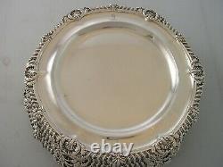 Amazing Rare Set 12 Harman 1900 Silver Dinner Plates 8966 grams Palm tree Crest