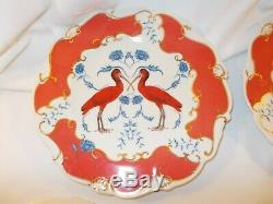 Anthropologie Nature Table Lou Rota set of 4 flamingo 9.5 dinner plates EUC