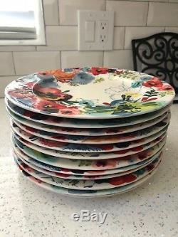 Anthropologie Sissinghurst Castle Dinner Plates set of 10