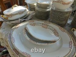 Antique B&C Limoges France L Bernardaud Marked 1900's- Set of 146 pcs Dinnerware