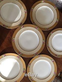 Antique Cauldon Service Dinner Plates Set Of 11