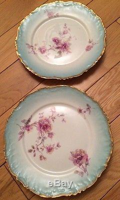 Antique Limoges LS&S Set of 5 Dinner Plates 19th C France