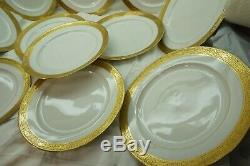 Antique Limoges Plates Dinner Gold Encrusted Bernardaud Set Of 12 B&co France