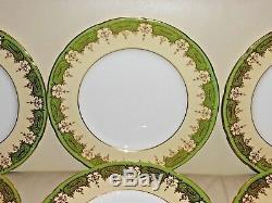 Antique Set Of 12 Coalport Dinner Plates Made For Birks Ellis Ryrie Toronto