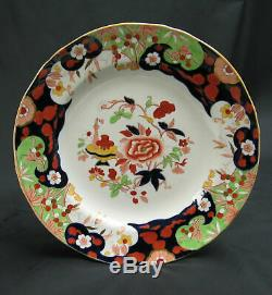 Antique Set of 6 English Minton Ironstone D'Orsay Japan 10 1/4 Dinner Plates