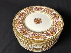 Antique Set of12 Minton10&1/2 Dinner Plates 4 plates have 1927 Swastika Cypher