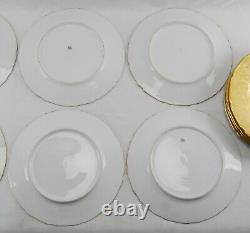 Antique T&V Limoges Gold Gilt CHARGER / DINNER PLATE 11 Set of 12 RARE