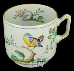 Antique WWII Set of 6 Copeland Spode Queens Bird Demitasse Cup Saucers New Stone