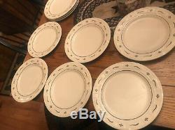 BEAUTIFUL Longaberger Traditional Blue SET of 6 10 Dinner Plate USA Near Mint