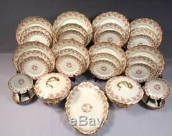 BRIDAL WREATH Rose Limoges France Bawo Dotter Elite Dinner Set Plates Platter