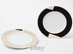 BVLGARI Porcelain Dinner Plate Dish Saucer set Tableware Ornament Auth New Rare