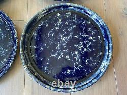 Bennington Potters Vermont Pottery Blue Dinner Plate 10 Set Of 5