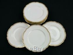 Bernardaud Gold Filigree Dinner Plate 8 Set, Antique R Deliniers Limoges, France