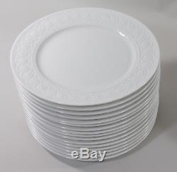 Bernardaud Limoges Set of 16 Louvre Pattern Porcelain Dinner Plates, Anka Estate