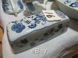 Blue Danube Dinner Fine China Set, Cups, Plates, Bowls, Cake Plate, 75 Piece Lot