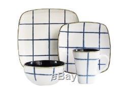 Blue Dinnerware Set Dinner Salad Plate Mug Soup Bowl Ceramic Dinner Casual Home