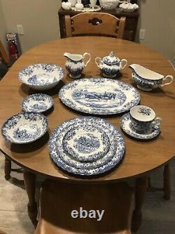Blue dishes-coaching scenes johnson brothers Dinner Set