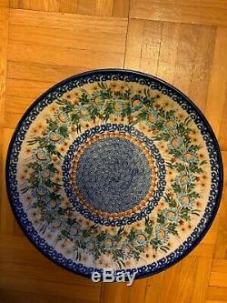 Boleslawiec Polish Pottery Unikat 10.5 Dinner Plate Set of 8 Signed by Artists
